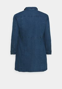 Noisy May Curve - NMLISA ZIP DRESS - Denim dress - medium blue denim - 1