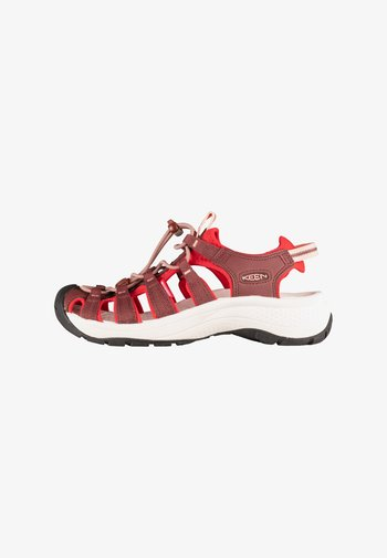 ASTORIA WEST - Walking sandals - andorra/red dahlia