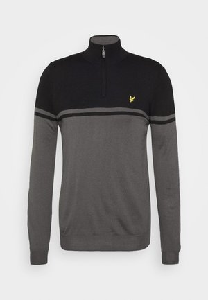 CROFT 1/4 ZIP - Sweter - rock grey