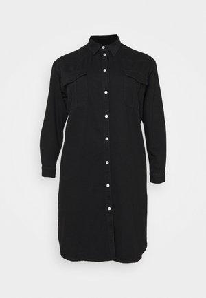 SLFDORMA LONG - Denim dress - black denim