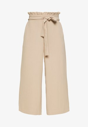 VIRASHA CROPPED WIDE PANT  - Trousers - beige