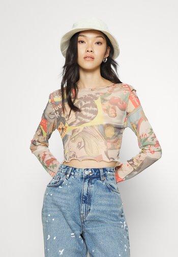 MATCHBOX MESH TEE - Long sleeved top - multi