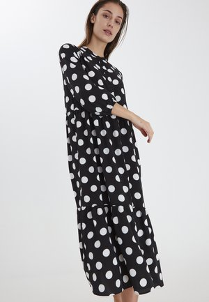 Shirt dress - black with dot