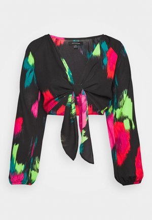 TIE FRONT - Blouse - blurred