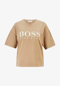 BOSS - EVINA ACTIVE - T-shirt con stampa - light brown - 3