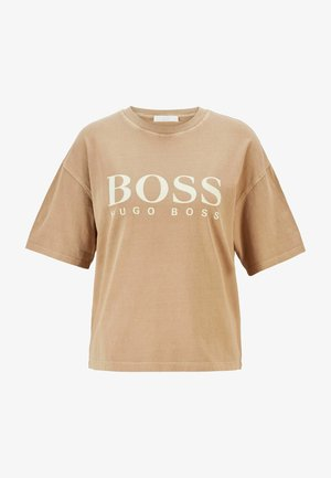 EVINA ACTIVE - Print T-shirt - light brown