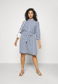 MY TRUE ME TOM TAILOR - SHIRT DRESS WITH BELT - Shirt dress - blue aquarelle - 1