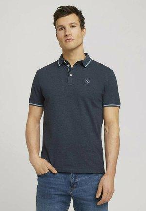 Polo shirt - blue white base melange