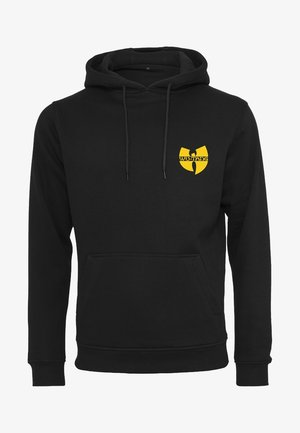 WU-WEAR CHEST LOGO HOODY - Jersey con capucha - black