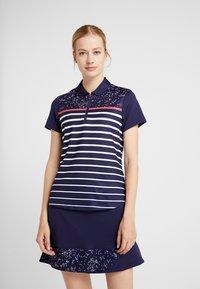 Callaway - CONFETTI PRINT WITH STRIPES - T-shirt sportiva - peacoat - 0