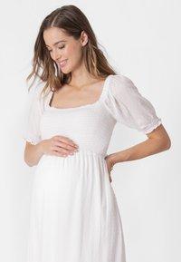 Seraphine - SHIRRED MATERNITY - Maxi dress - white - 3