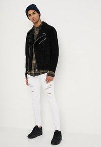 Jack & Jones - JORDANE - Leather jacket - black - 1