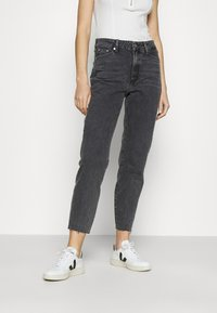River Island - Straight leg jeans - washed black - 0