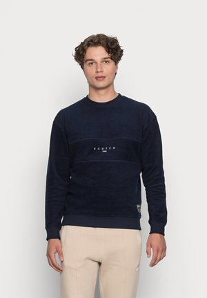 CUT AND SEWN BRUSHED FELPA CREWNECK - Sweatshirt - denim blue