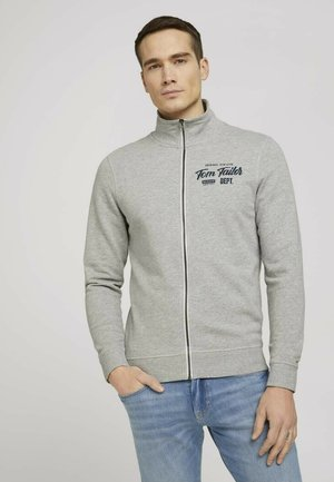 MIT STEHKRAGEN - Zip-up sweatshirt - middle grey melange