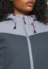 CMP - WOMAN JACKET FIX HOOD - Hardshell jacket - titanio - 4