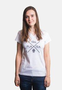 Platea - Print T-shirt - weiß - 0
