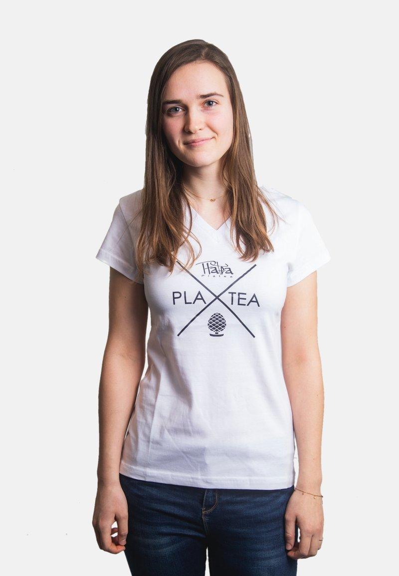 Platea - Print T-shirt - weiß