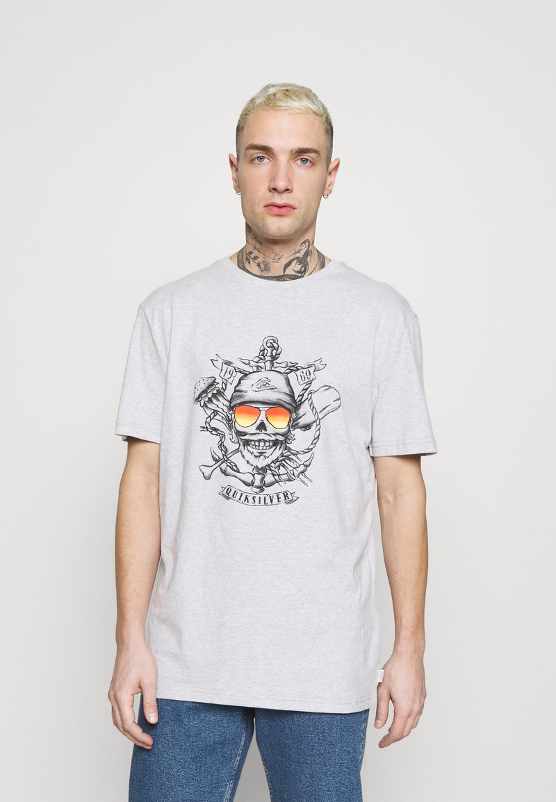 Quiksilver - MADE OF BONES - Print T-shirt - athletic heather