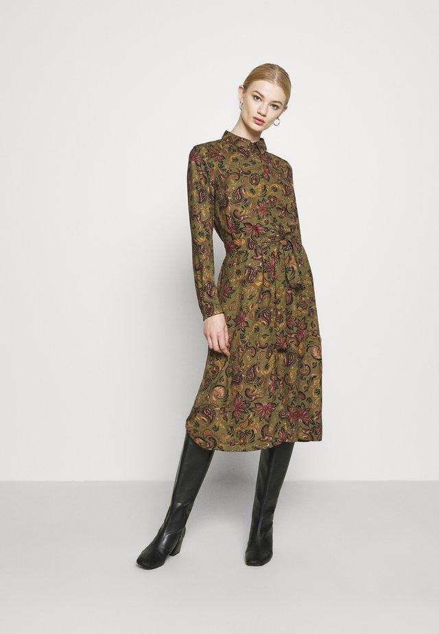 VMLALLIE CALF DRESS  - Shirt dress - kalamata