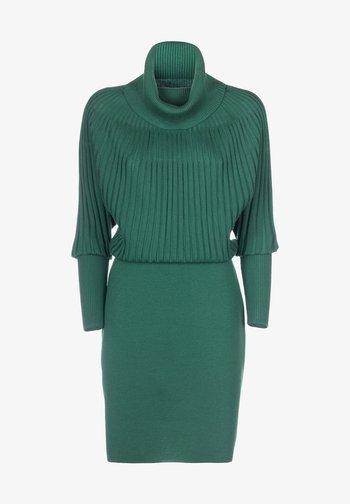 MINNIE - Shift dress - verde bottiglia