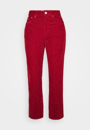 HARPER STRAIGHT ANKLE - Pantaloni - wine red