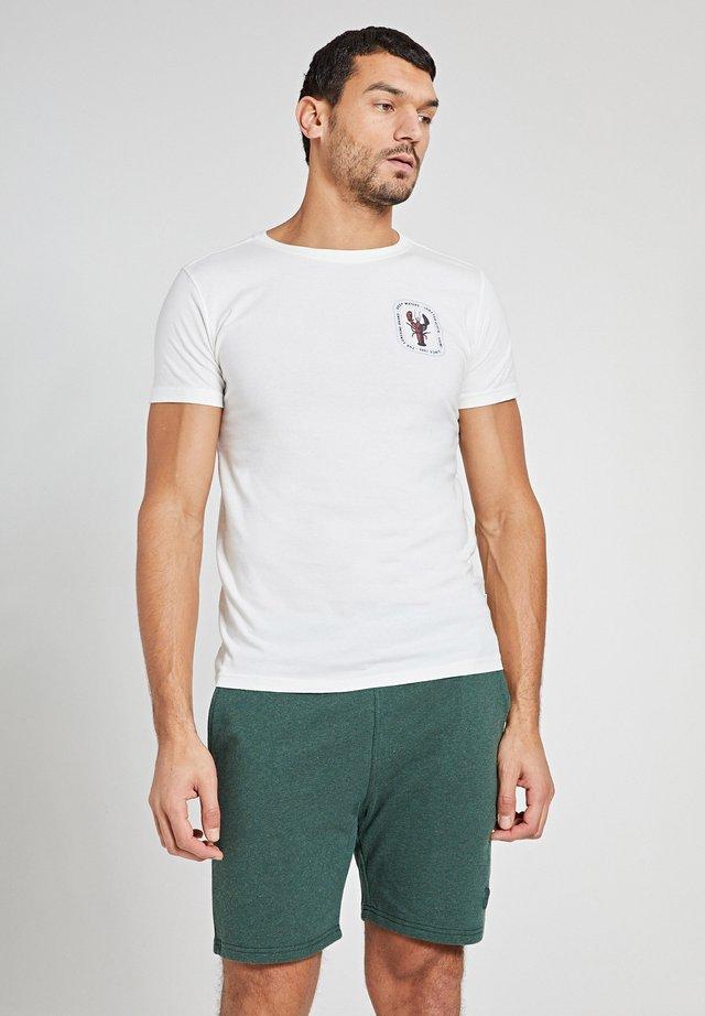 LOBSTER - T-shirt imprimé - white antique