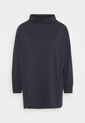 FUNNEL NECK TUNIC - Long sleeved top - washed black