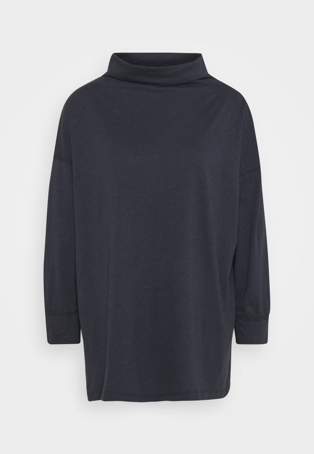FUNNEL NECK TUNIC - T-shirt à manches longues - washed black