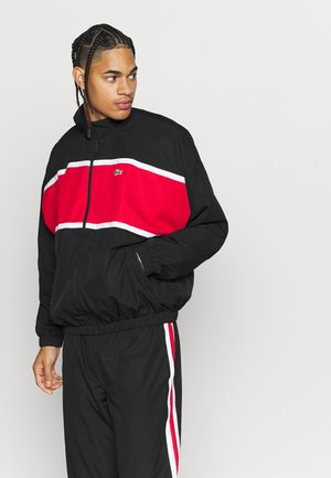 OVERSIZED TRACKSUIT - Træningssæt - black/red/white