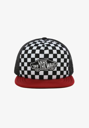 BY CLASSIC PATCH TRUCKER - Czapka z daszkiem - chili pepper-checkerboard