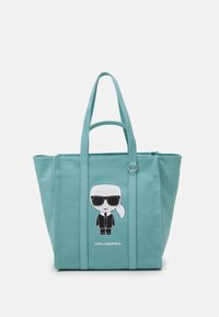 KARL LAGERFELD - IKONIK BIARRITZ TOTE - Handbag - smoked blue - 1