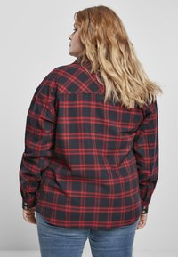 Urban Classics - OVERSIZED  - Button-down blouse - midnightnavy/red - 5