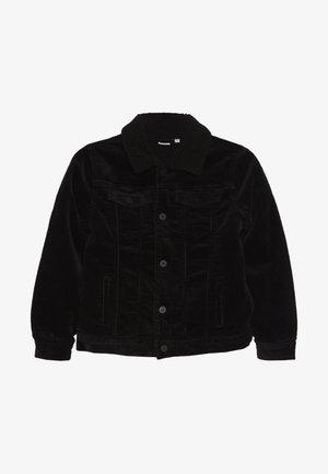 NKMACO CORD TEDDY JACKET - Light jacket - black