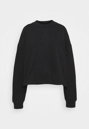 HIGH NECK CROPPED - Sweatshirt - black