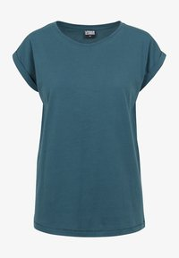 Urban Classics - LADIES EXTENDED SHOULDER - T-shirt basic - teal - 2