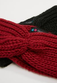 Even&Odd - 2 PACK - Čelenka - black/red - 5