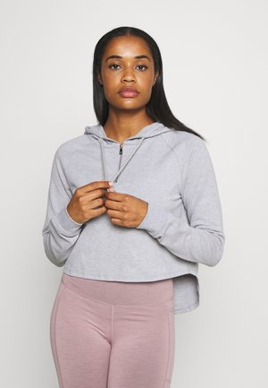 KNOCK OUT CROP HOODIE - Sweat à capuche - grey marle