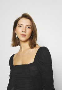 Nly by Nelly - SHEER TOUCH TOP - Long sleeved top - black - 4