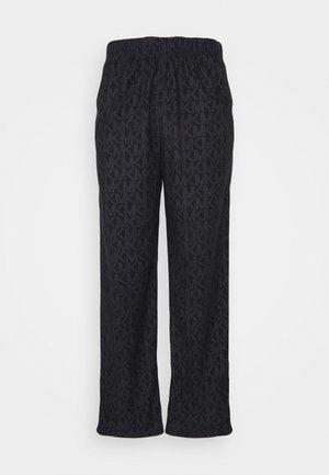 ROLLED PANT - Pyžamový spodní díl - black
