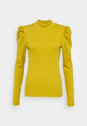 PCANNA NECK TOP TALL - Long sleeved top - ecru olive