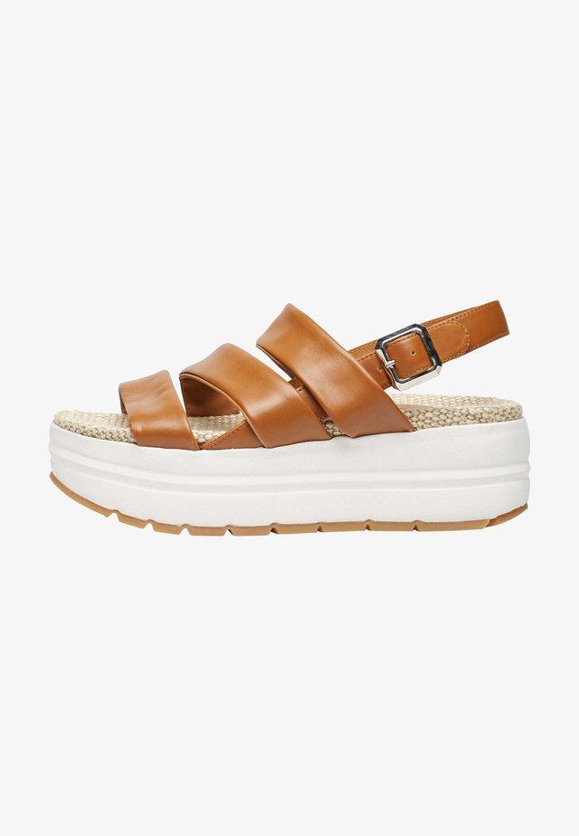 SONI - Sandales à plateforme - braun