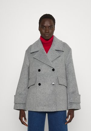 RELAXED PEACOAT - Klassinen takki - heather grey