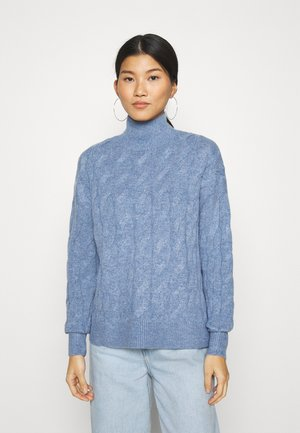 JAC CABLE SLOUCHY - Jumper - denim blue heather
