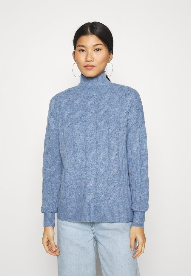 JAC CABLE SLOUCHY - Pullover - denim blue heather