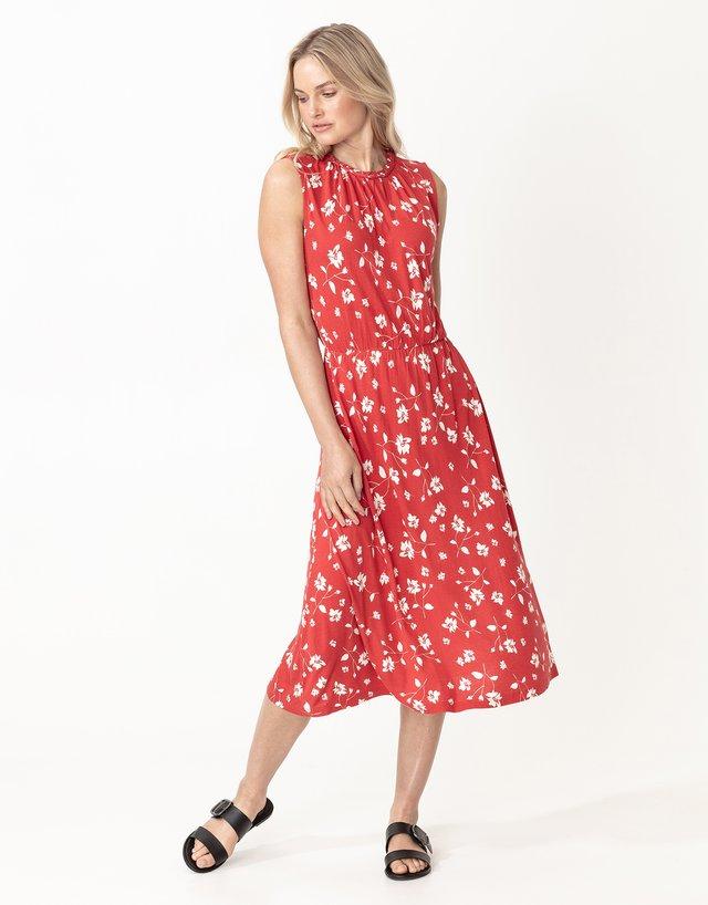 KARLA - Denní šaty - red