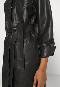Topshop - BELTED SHAKETT - Short coat - black - 5