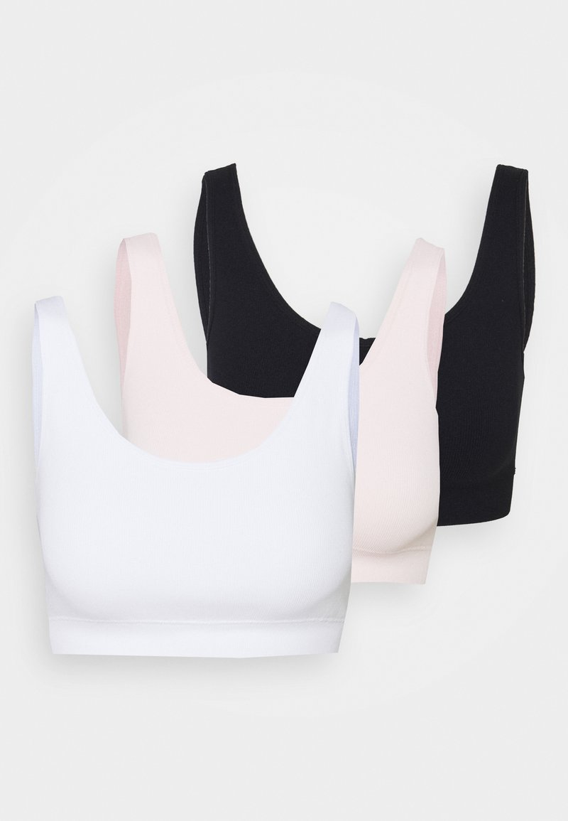 DORINA - FLO 3 PACK - Bustino - white/pink/black