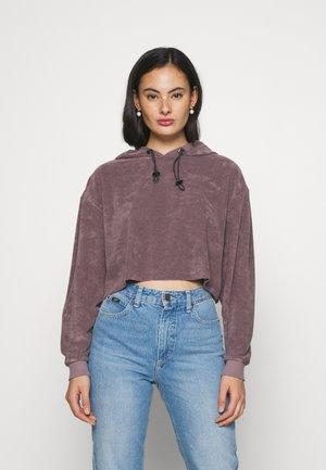 LEXIE TOWELLING HOODIE - Sweatshirt - plum