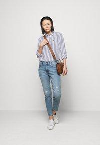 Polo Ralph Lauren - STRIPE LONG SLEEVE - Button-down blouse - white/blue - 1